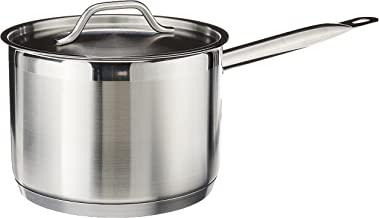 Winware Sauce Pan with Cover, stainless steel, 4 qt, SSSP-4