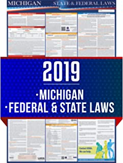 2019 Michigan State and Federal Labor Laws Poster - OSHA Workplace Compliant 24