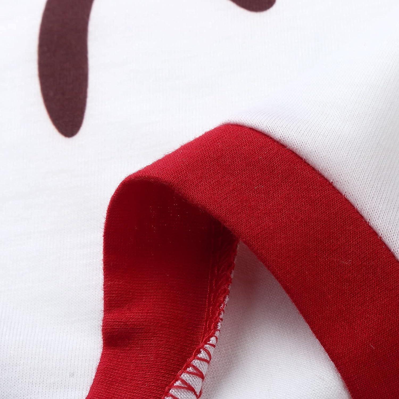 Goldweather Family Matching Pajamas Merry Christmas Letter Stripe Print Long Sleeve Pjs Sets Winter Xmas Sleepwear Loungewear