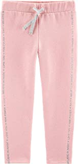 Carter's Glitter Pull-On Fleece Joggers for Baby Girl Size 4T Pink