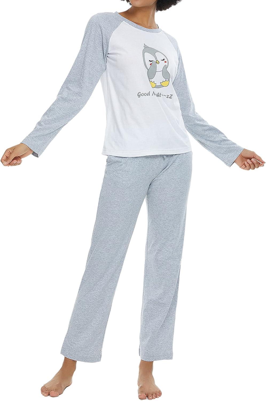 Alcea Rosea Women's Cotton Sleepwear Cute PANDA Printed Short Sleeve pajama set Soft Pjs Nightwear with Pockets