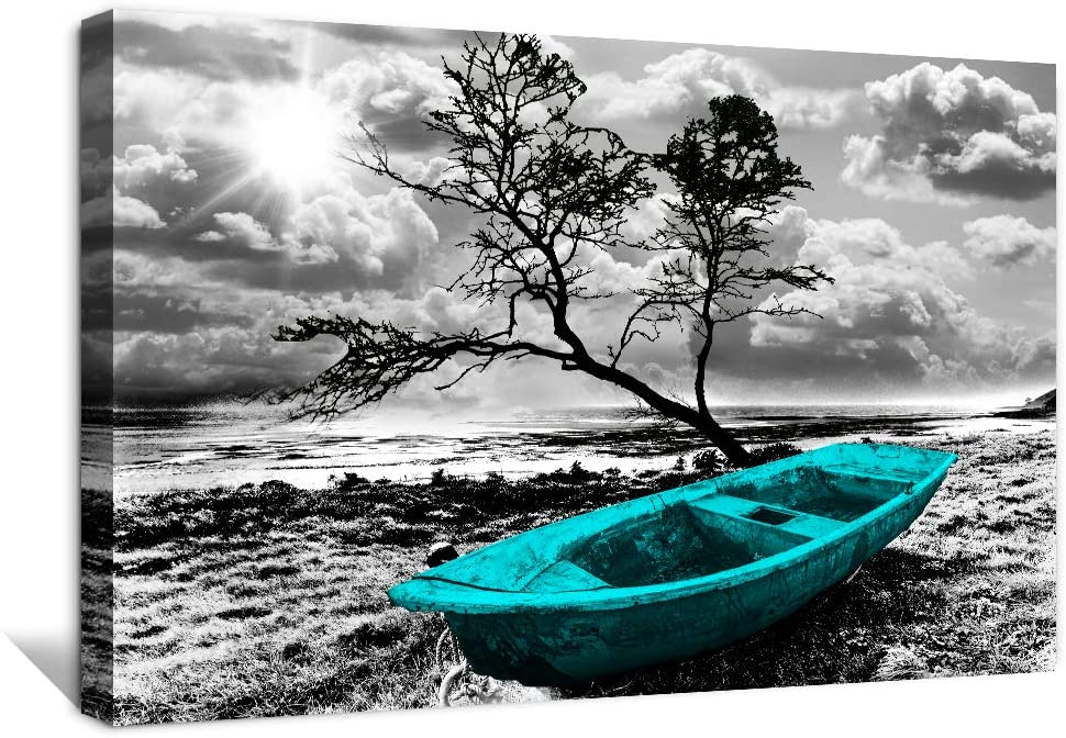 Canvas Wall Limited time for free shipping shipfree Art for bathroom Black White se ocean decor and