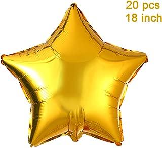 gold star helium balloon