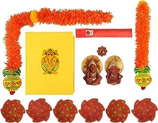 storeindya Diwali Diya Decorations Festival Decor Toran Wall Hanging Rangoli Sticker Incense Sticks with Holder Combo Packs (Combo)