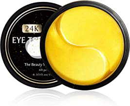 24K Gold Eye Treatment Masks,eye mask for puffy eyes,dark circles under eye treatment,Gel Eye Mask for Eyes Treatment Puffiness Anti Aging Bags Deep Hydration,for women and men(60pcs)