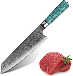 Couteau à sashimi 1pcs Damascus VG10 Couteau de Chef de 8 pouces en acier VG10 Professionnel Japanes Kirsuke Gyuto Cleaver...