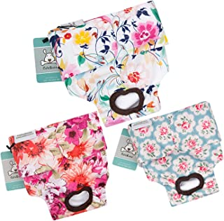CuteBone Dog Diapers Female Reusable 3 Pack for Doggie in Heat