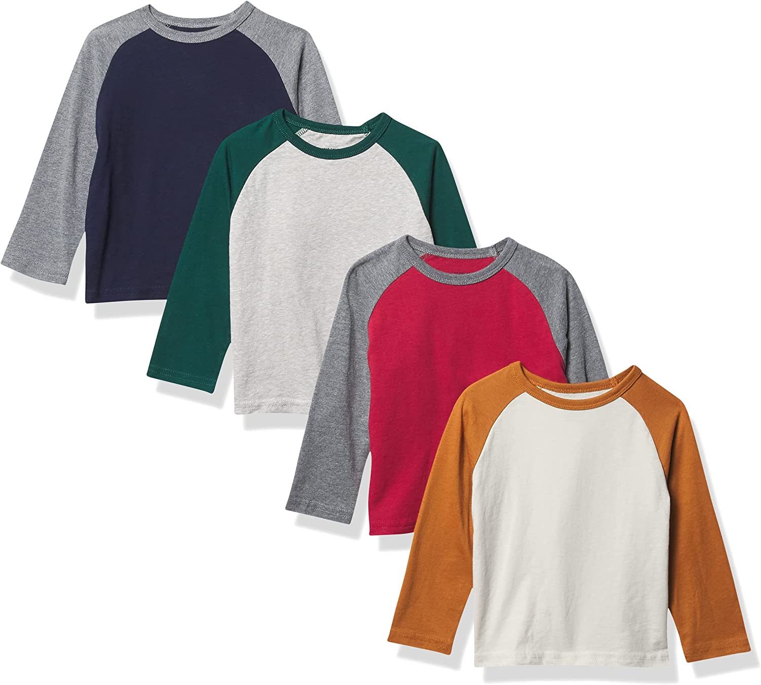 The Children's Place Baby Toddler Boy Long Sleeve Raglan Top 3-Pack