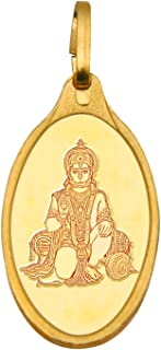 Kundan Hanuman 24k(999.9) Yellow 2.7 gm Gold Pendant