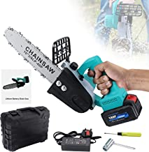 12 inch Cordless Electric Chainsaw,700W Battery Powered Saw Cutter for Cutting Trees Wood Branches,with 21V 1.5AH Recharge...