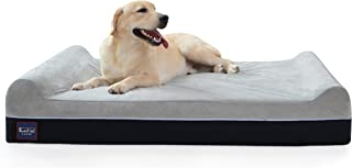 Laifug Orthopedic Memory Foam Extra Large Dog Bed Pillow with Durable Water Proof Liner & Removable Washable Cover & Smart Design