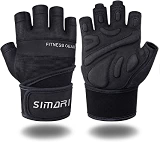 SIMARI Workout Gloves for Women Men,Training Gloves with Wrist Support for Fitness Exercise Weight Lifting Gym Crossfit,Made of Microfiber and Lycra SMRG902 …