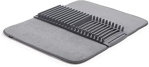 UMBRA UDRY 330720-149, Escurridor de platos con tapete de microfibra, 61 x 45.7 cm, color gris carbón