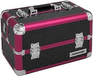 Beauty Case Kosmetikkoffer Schminkkoffer Werkzeugkoffer Schwarz Rot Karo