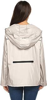 Avoogue Packable Rain Jacket Women Light Weight Waterproof Reflective Raincoats