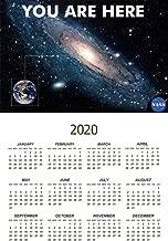 You are Here Galaxy Retro NASA 2020 Calendar Poster 12x18 Inch