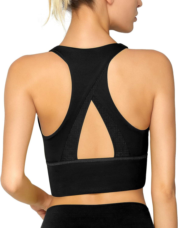 jambeau Women Longline Sports Bra Hollow B Padded Racerback Yoga OFFicial Complete Free Shipping