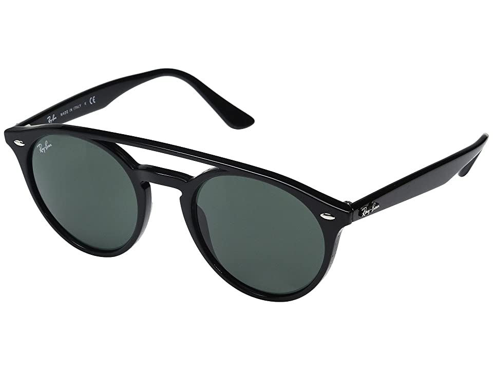 Ray-Ban 0RB4279 51mm (Shiny Black Frame/Green Lens) Fashion Sunglasses