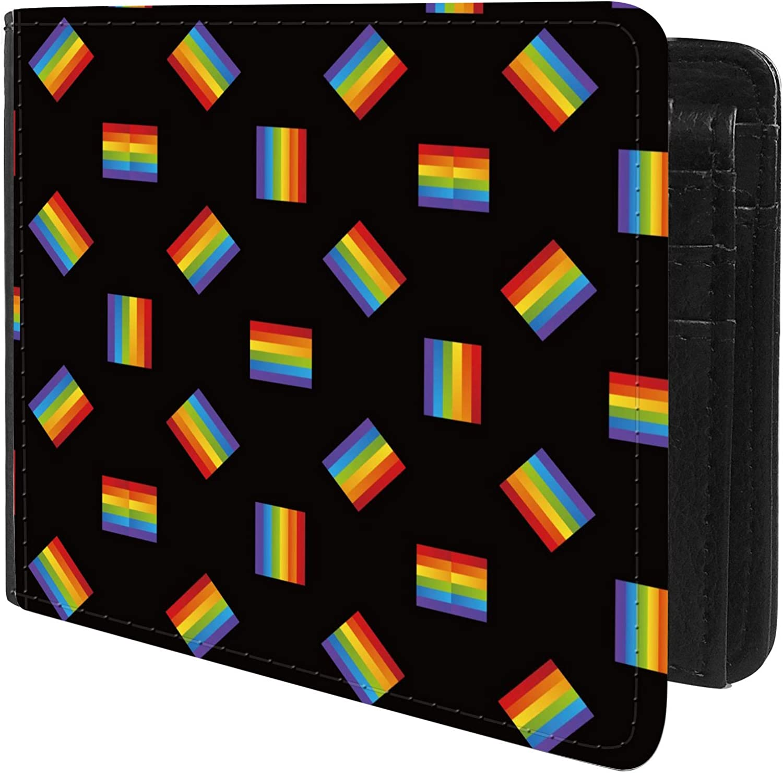 Unique Desige Pattern - LGBT Pride Rainbow Flag, Slim Front Pocket Wallet Billfold RFID Blocking
