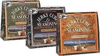 Hi Mountain Jerky Seasoning and Cure - Original Blend, Cracked Pepper N Garlic Blend & Hickory Blend - 3 Packs of 7.2 oz