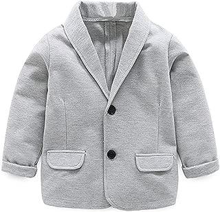 Little Kids Boys Girls Casual Fashion Blazers Jackets Coat Suit Outerwear