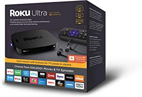 Roku Ultra | HD/4K/HDR Streaming Media Player?Voice Remote, Remote Finder &?USB.?Now includes?Premium JBL Headphones. (2018)