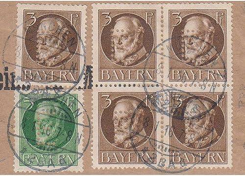 Goldhahn Bayern Dienstmarke Nr. 12 auf Briefausschnitt geprüft und signiert Helbig Briefmarken für Sammler