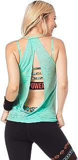Zumba Fitness Damen Zumba Noir Debardeur Femme De Danse Imprim/é Graphique Entra/înement Actif Haut Sport Schwarzer Racerback