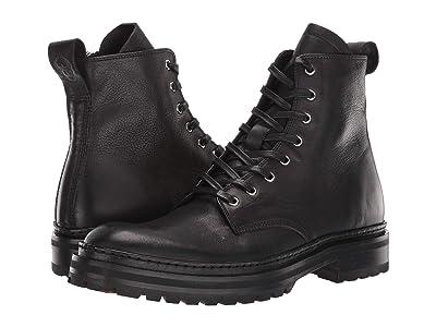 John Varvatos Collection Union Combat Boot (Black) Men
