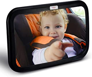HOUSEDAY Baby Car Mirror   Most Stable   View Infant in Rear Facing Seat   100% Lifetime Satisfaction Guarantee   Shatterproof & Crash Tested   Best Newborn Safety  Safety Car Seat Mirror for Rear Fac