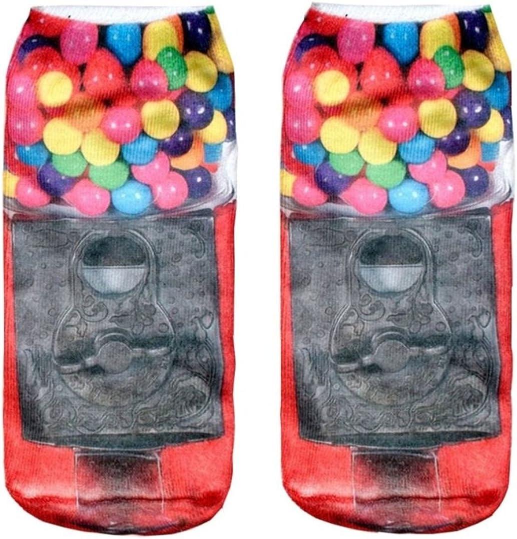 Doxi Funny Sock Candy Maschine Cartoon Animal Print For Woman Man Boy Girl Free Size