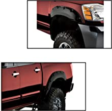 For Nissan Titan 2004-2014 With Bedside Lockbox Black Front and Rear Fender Flares