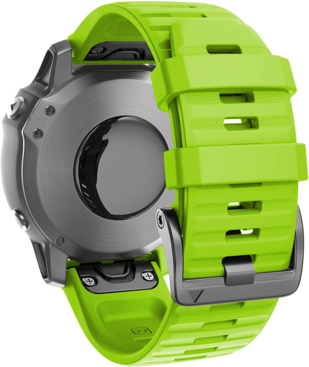 ANCOOL Compatible with Fenix 6 Bands 22MM Easy-fit Soft Silicone Watch Band Replacement for Fenix 6 Pro/Fenix 5/Fenix 5 Plus/Approach S60/S62/Forerunner 945 Smartwatches (Green)
