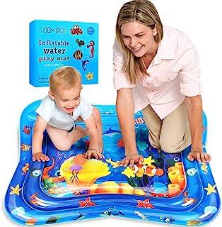 Swonuk Inflatable Water Play Mat, Pez Payaso Estera inflable del Agua del Bebé 100 * 80, Juego de Esterilla de Agua PVC Grueso, para Niños Pequeños Centro de Actividades para Los Recién Nacidos