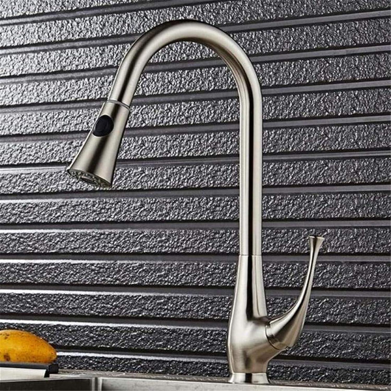 Wasserhahn Retro Küche Bad Wasserhahn Wasserhahnmischer Ausziehhahn Auslaufbecken Spültischarmatur Wasserhahn Nickel Chrom Einhebel-Hei- Und Kaltmischbatterie