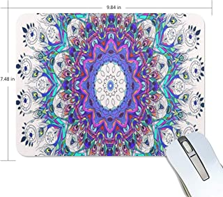 Mouse Pad Mandala Peacock Feather Gaming Mousepad Computer Small Thick Mouse Mat Black Trendy Mouse Pads