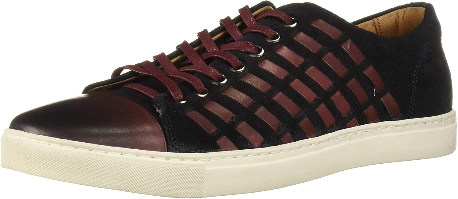 Brothers United Direct store Men's Regular dealer Leather Luxury Sneaker Fashion with Woven