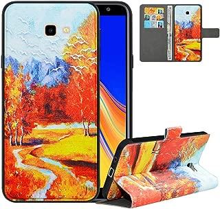LFDZ Compatible with Samsung J4 Plus Case, PU Leather J4 Core Wallet Case with [RFID Blocking], 2 in 1 Magnetic Detachable Flip Cover Case for Samsung Galaxy J4 Plus/J4 Core/J4 Prime,Autumn