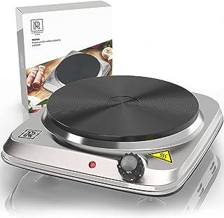 M. ROSENFELD HOME Premium Kochplatte Einzeln 1500W Edelstahl Herdplatte Elektrisch mit..