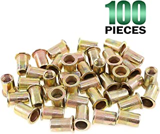 Zinc Plated 0.375 OD Lyn-Tron 0.937 Length, Pack of 10 6-32 Screw Size Female Brass