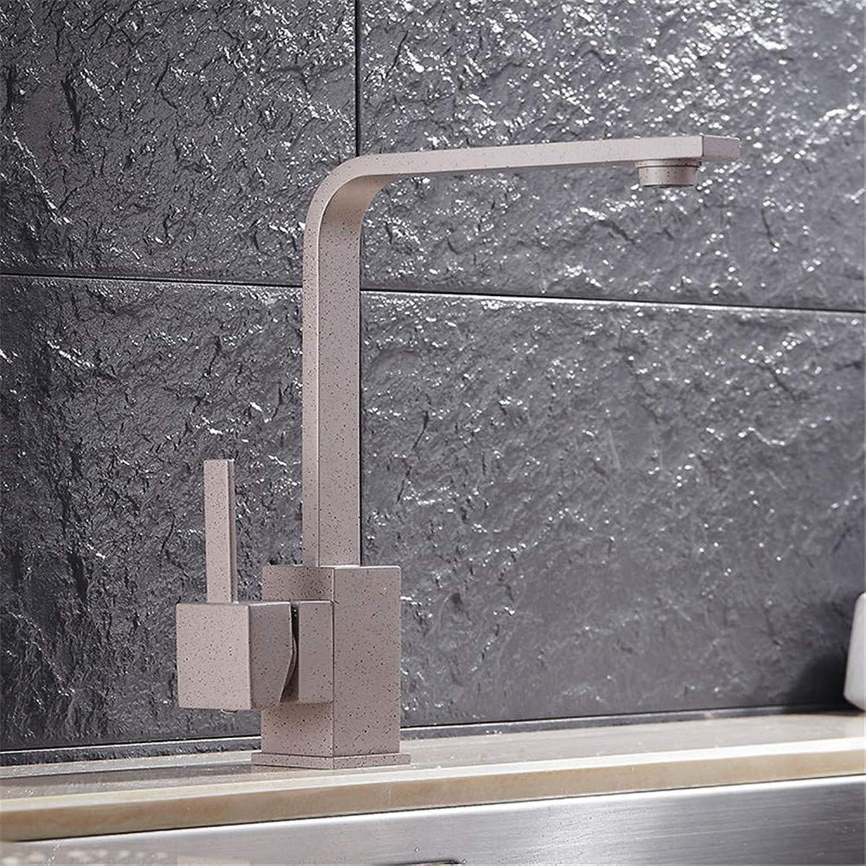 XPYFaucet Warme und kalte Küchenquarzsteinspüle Wasserhahn,Universalschwenker grauer Wasserhahn