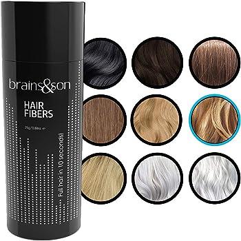 brains&son Streuhaar - Premium Haarverdichtung/Schütthaar mit Soforteffekt bei Geheimratsecken, Haarausfall und lichtem Haar - Haarpuder | 25g (Blond)