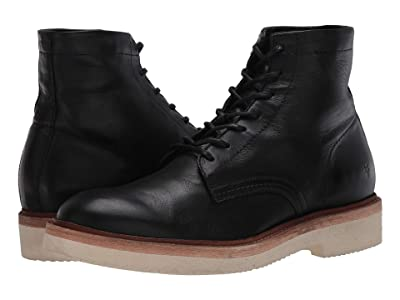 Frye Bowery Weekend Lace-Up (Black Soft Full Grain) Men