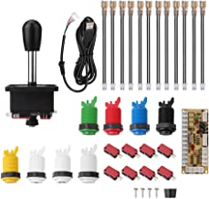 Arcade Games DIY Parts Accessories Kit with 1 Arcade Joystick + Zero Delay USB Encoders + 8 Arcade Buttons (1P / 2P Buttons & 6pcs Color Buttons) for Arcade Video Game MAME Jamma Game PC Games