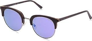 Guess Clubmaster Unisex Sunglasses - Gu3026-52-22-140 mm, Blue Lens