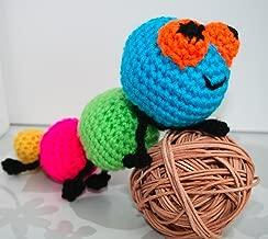 Crochet pattern Amigurumi crochet baby caterpillar rattle