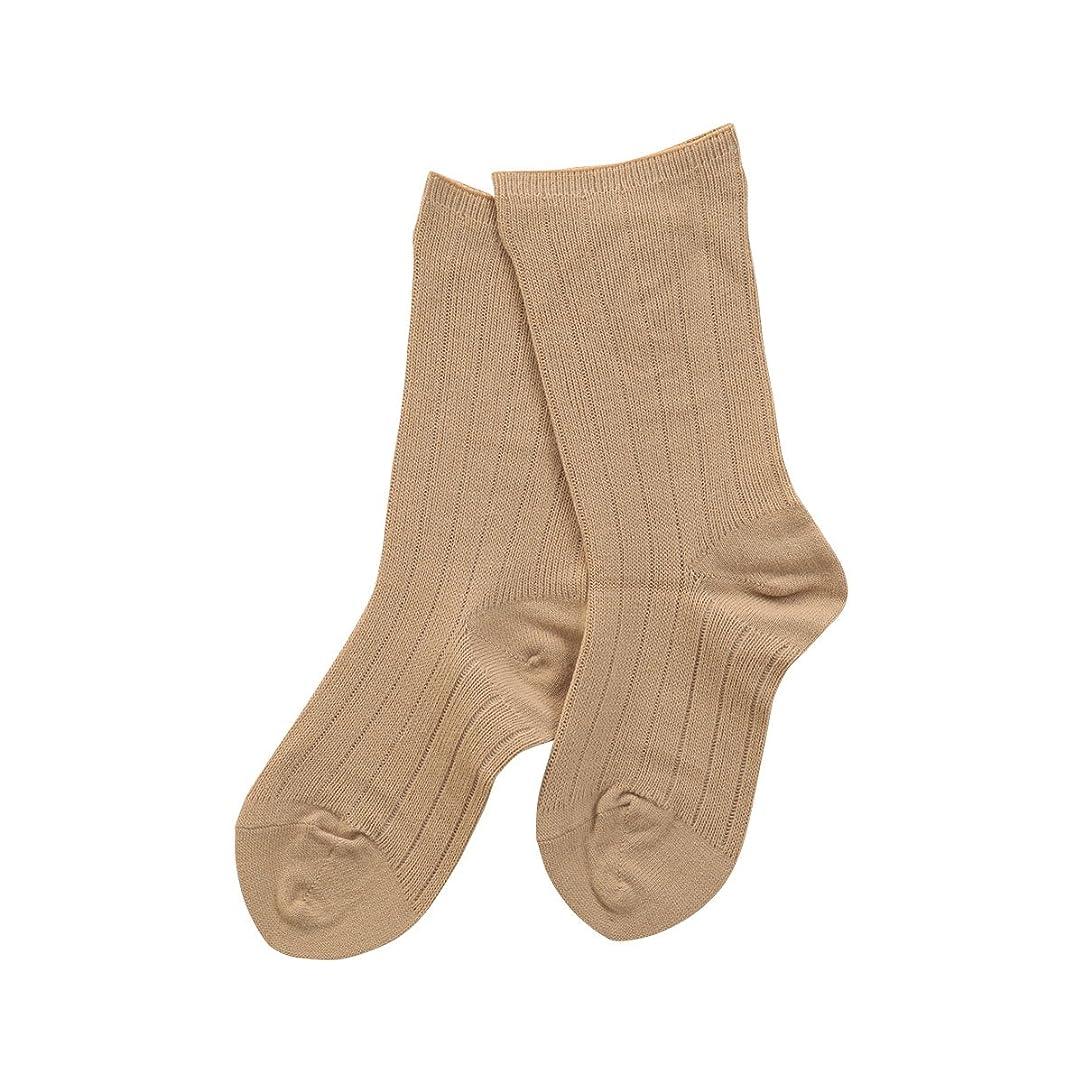 リハーサル定期的な承認(コベス) KOBES ゴムなし 毛混 超ゆったり靴下 日本製 婦人靴下