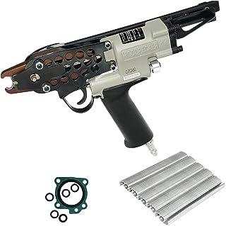 Woodpecker C-7CA Pneumatic Hog Ring Staple Gun Kit 15 Gauge 3/4-Inch Crown C Ring Stapler Gun 4.8mm Closure Diameter Air P...