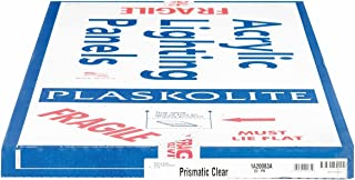 Plaskolite 1A20083A Clear Prismatic Optix Acrylic Lighting Panel