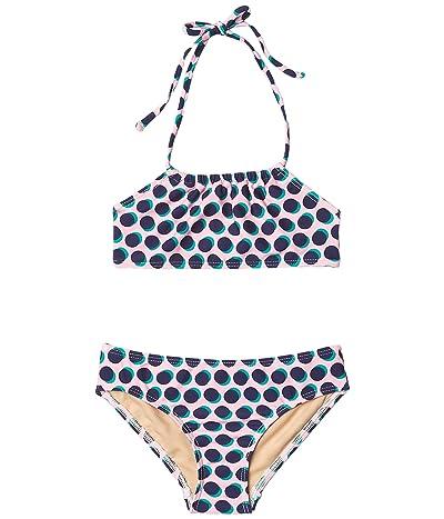 Toobydoo Bandeau Bikini Set (Toddler/Little Kids/Big Kids) (Pink/Navy Polka Dot) Girl